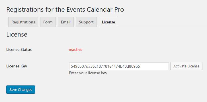 the events calendar pro license key