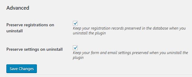 Preserve settings