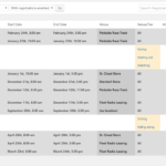 """Back-end """"List"""" view of upcoming events"""