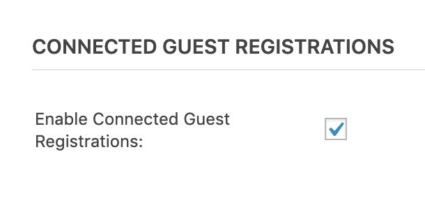 enabled connected registrations setting